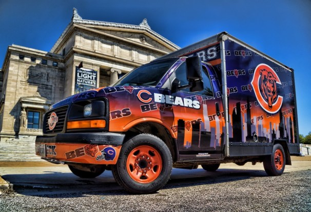 Chicago Bears Fan Tailgating Promotion Truck