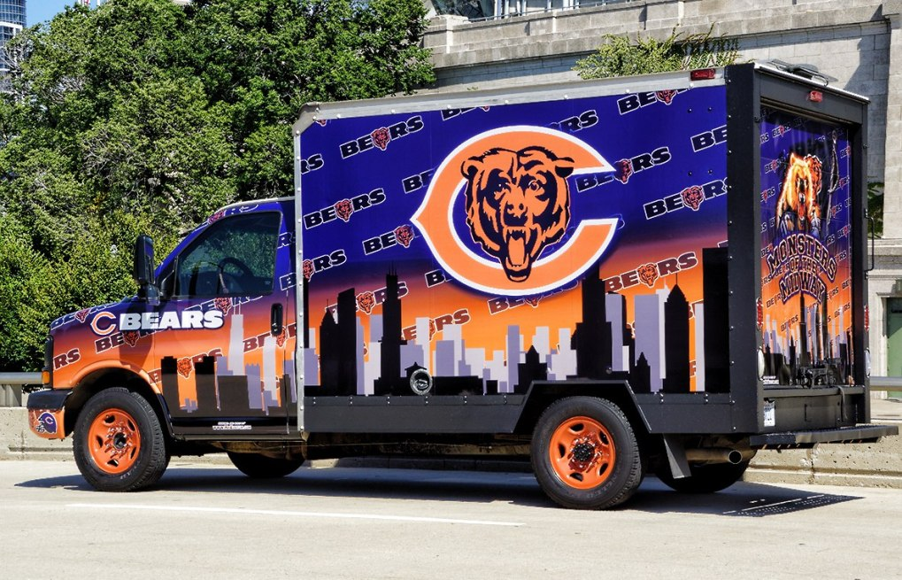 Chicago Bears Uhaul Truck