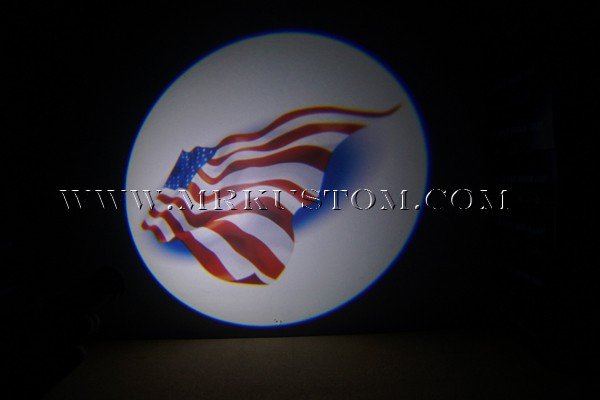 American Flag LED Door Projector Courtesy Puddle Logo Light