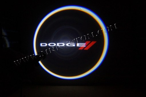 Dodge Stripes LED Door Projector Courtesy Puddle Logo Light