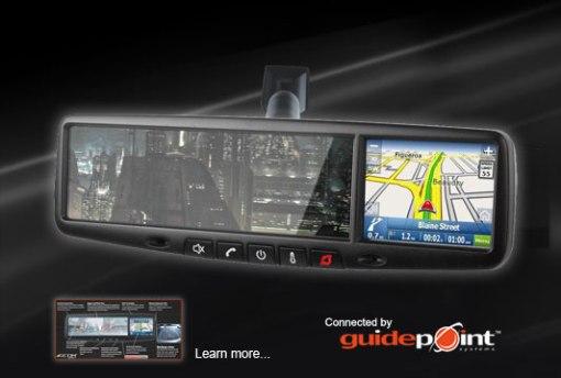 Rear view Mirror Navigation System