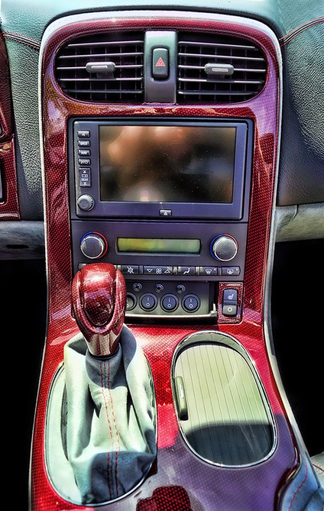 Water Transfer Printing Corvette Dash