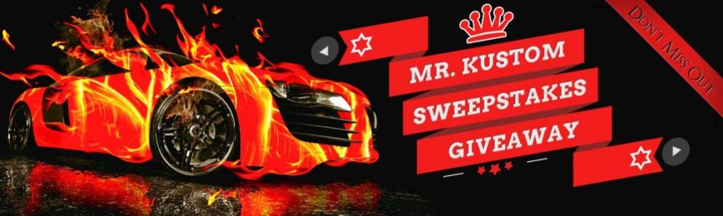 Sweepstakes Auto Accessories Mr Kustom New