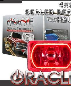 Pre-Installed Red Halo Lights Sealed Beam 4x6