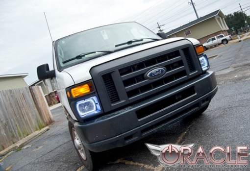 """Pre-Installed Halo Lights Sealed Beam 7x6"""""""