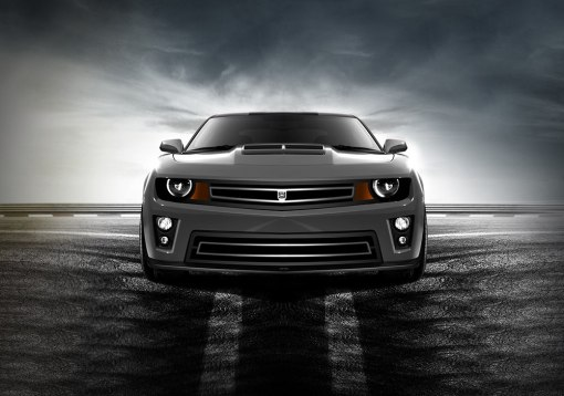 Phantom urban edition grille Lower bumper grille for 2010-2013 Chevrolet Camaro fits V8 models (Matte black finish)
