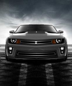Phantom urban edition grille Lower bumper grille for 2010-2013 Chevrolet Camaro fits V8 models (Matte black finish)
