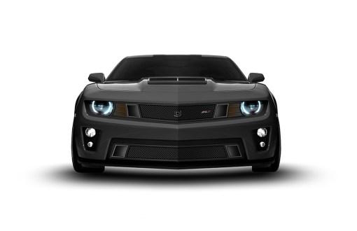 GT Strada Lower bumper grille for 2010-2013 Chevrolet Camaro fits V6 models (Matte black finish)