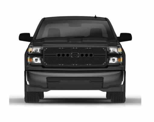 Sniper Truck Grille Primary Grille for 2007-2012 Chevrolet Avalanche LS/LT/LTZ, Tahoe, Suburban fits All models (Polished finish)