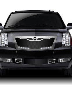 Macaro Primary Grille for 2007-2014 Cadillac Escalade fits Will Not Fit Premium And Platinum Edition models (Triple Chrome finish)