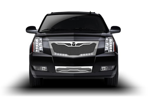 Macaro Lower bumper grille for 2008-2014 Cadillac Escalade fits Premium And Platinum Edition Only models (Matte black finish)