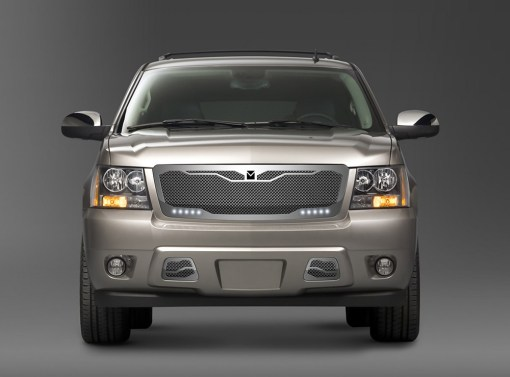 Macaro Lower bumper grille for 2007-2014 Chevrolet Tahoe/ Avalanche fits All models (Triple Chrome finish)