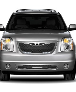 Macaro Lower bumper grille for 2007-2014 Gmc Yukon/ Denali fits All Except Hybrid models (Matte black finish)