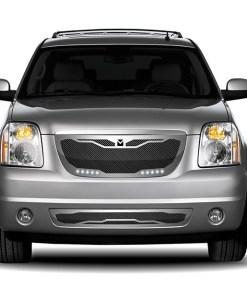 Macaro Lower bumper grille for 2007-2014 Gmc Yukon/ Denali fits All Except Hybrid models (Matte black finish)