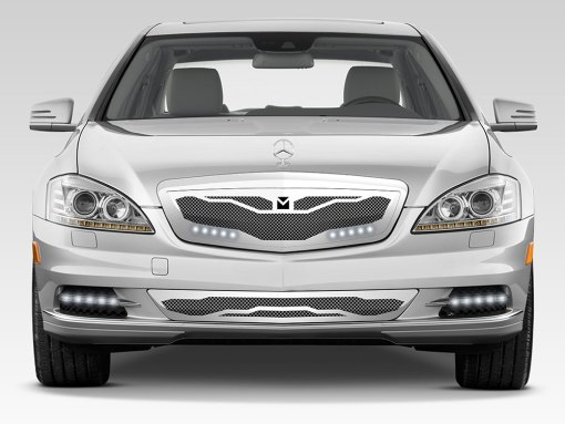 Macaro Lower bumper grille for 2007-2009 Mercedes Benz S550 fits Amg Sport models (Triple Chrome finish)