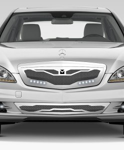 Macaro Hood Cowl Grille for 2010-2013 Mercedes Benz S550 fits All models (Matte black finish)