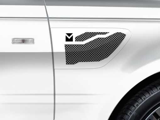Macaro Side Vents for 2005-2009 Range Rover Sport fits Sport models (Matte black finish)