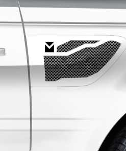 Macaro Side Vents for 2005-2009 Range Rover Sport fits Sport models (Matte black finish)