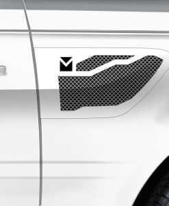 Macaro Side Vents for 2005-2009 Range Rover Sport fits Sport models (Polished finish)