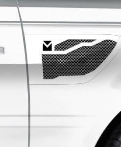 Macaro Side Vents for 2010-2013 Range Rover Sport fits Sport models (Triple Chrome finish)