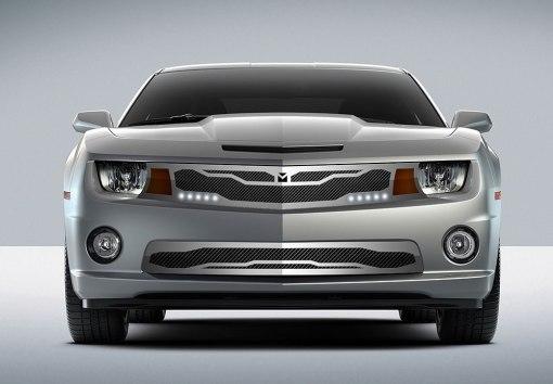 Macaro Lower bumper grille for 2010-2013 Chevrolet Camaro fits Zl1 models (Triple Chrome finish)