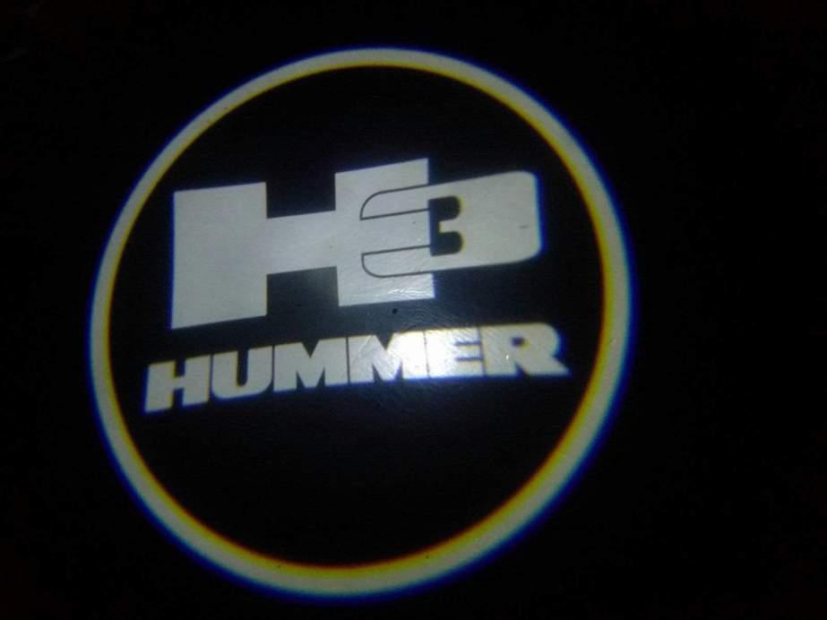 Hummer 3 Door Projector Courtesy Puddle Logo Lights