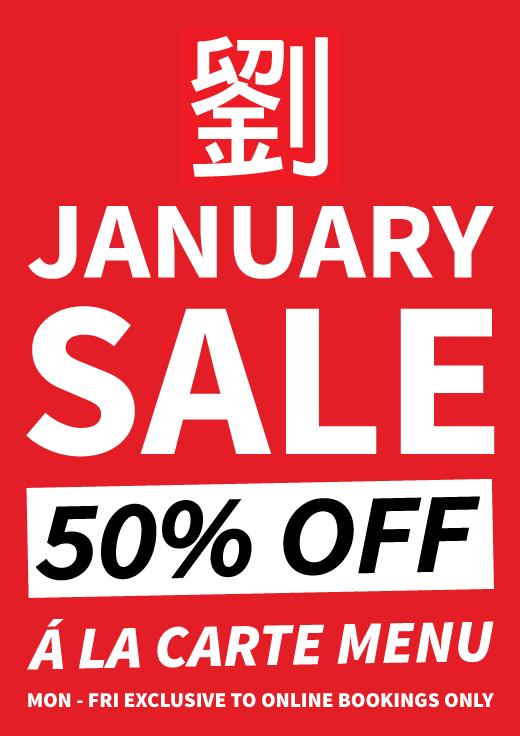 50% Off January Sale at Mr Lau's Warrington
