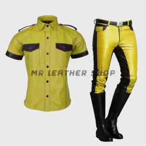 Police Leather Uniform
