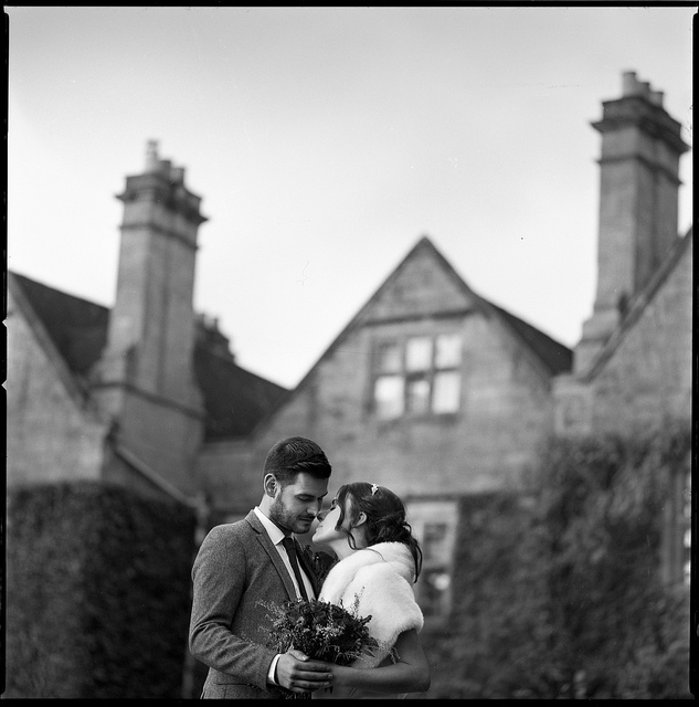 Elegant Black and White Wedding Photography - hasselblad film camera