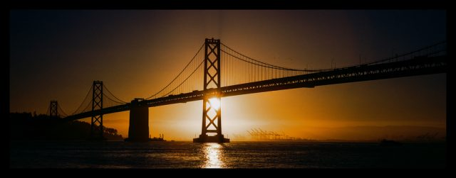 Golden gate bride film photography - hasselblad xpan