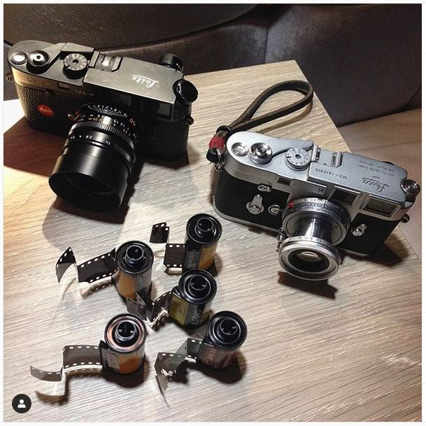Leica M4-P and Leica M3 film cameras