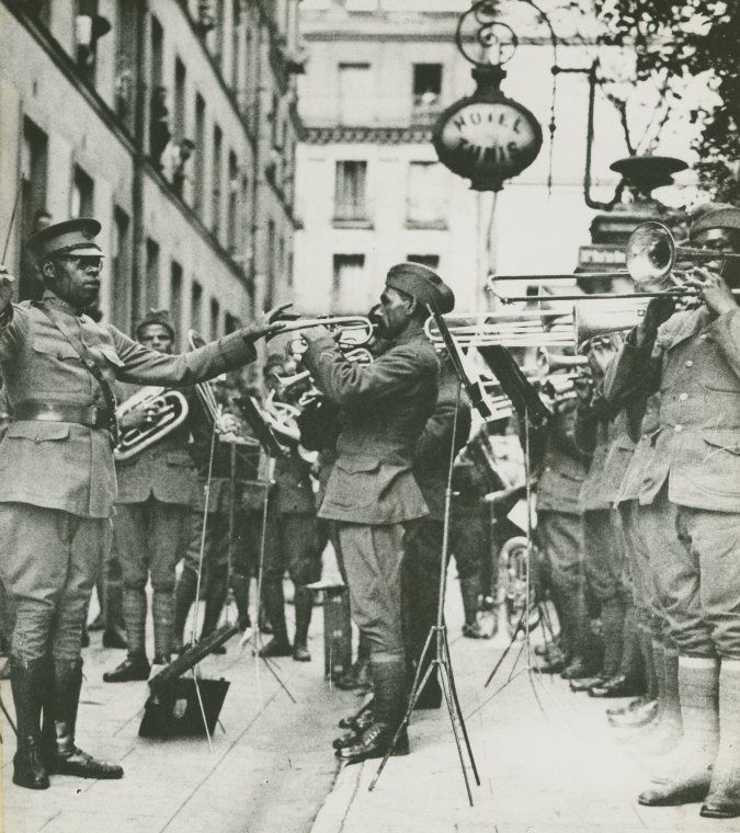 James Reese Europe leading 369th Regimental Band