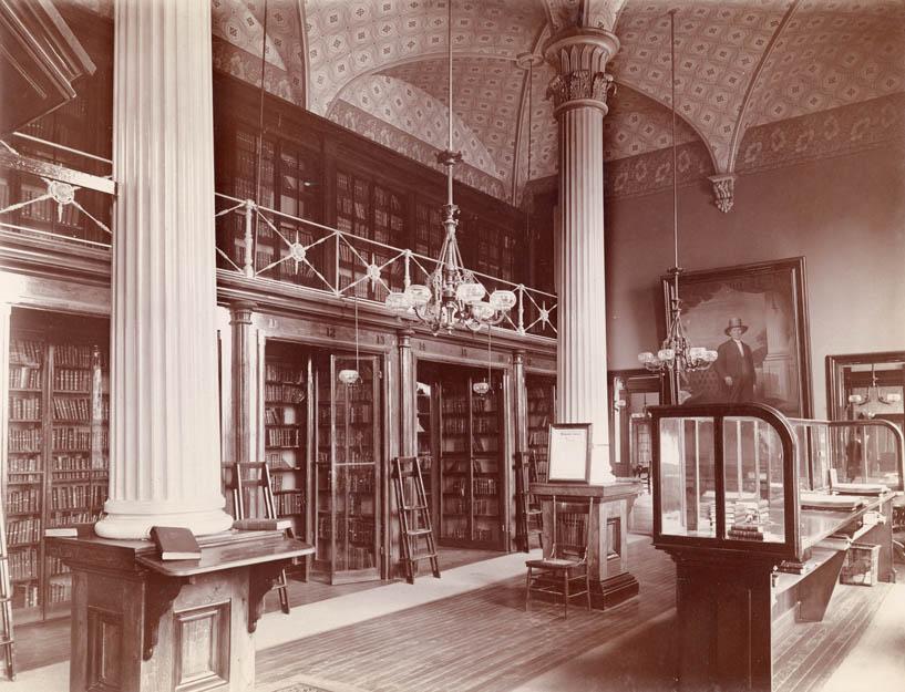 Morrisson Library around 1890
