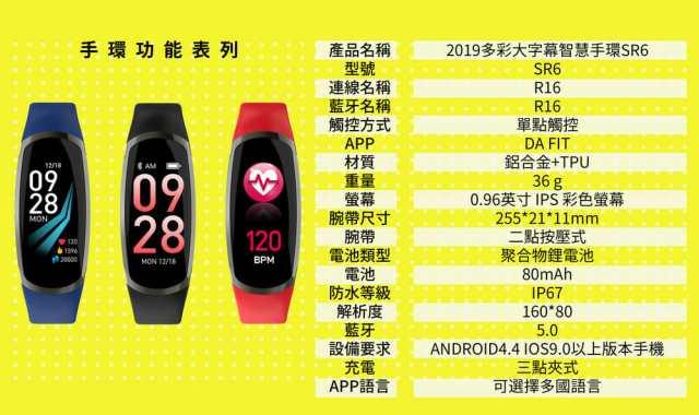 2019 Waymax|SR6 多彩大字幕智慧手環開箱介紹! 7