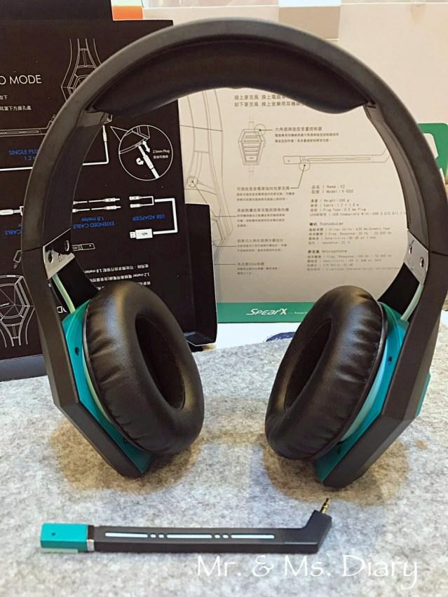電競、直播、聽歌耳機推薦!SpearX X2跨界電競耳機 10