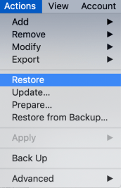 MrMacintosh.com - Apple Configurator 2. Actions > Restore.