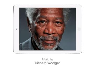神人畫家透過iPad用手指畫出摩根·費里曼
