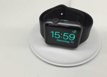 蘋果推出最新Apple Watch圓形優美磁性充電座與開箱