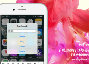 [Cydia for iOS8~iOS9] 透過手勢啟動多功能瀏覽器搜尋視窗「TextSearch」、「TextSearchPro」