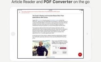 [限免]透過iPhone也能快速將網頁轉換成PDF工具InstaWeb: Web to PDF Converter, Article Cleaner and Reader