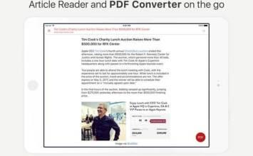 [限免]透過iPhone也能快速將網頁轉換成PDF工具InstaWeb: Web to PDF Converter, Article Cleaner and Reader