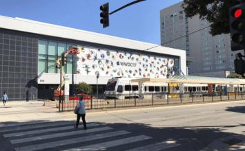 WWDC 2017 聖荷西聖荷西會議中心外牆已經開始佈置與發配識別證