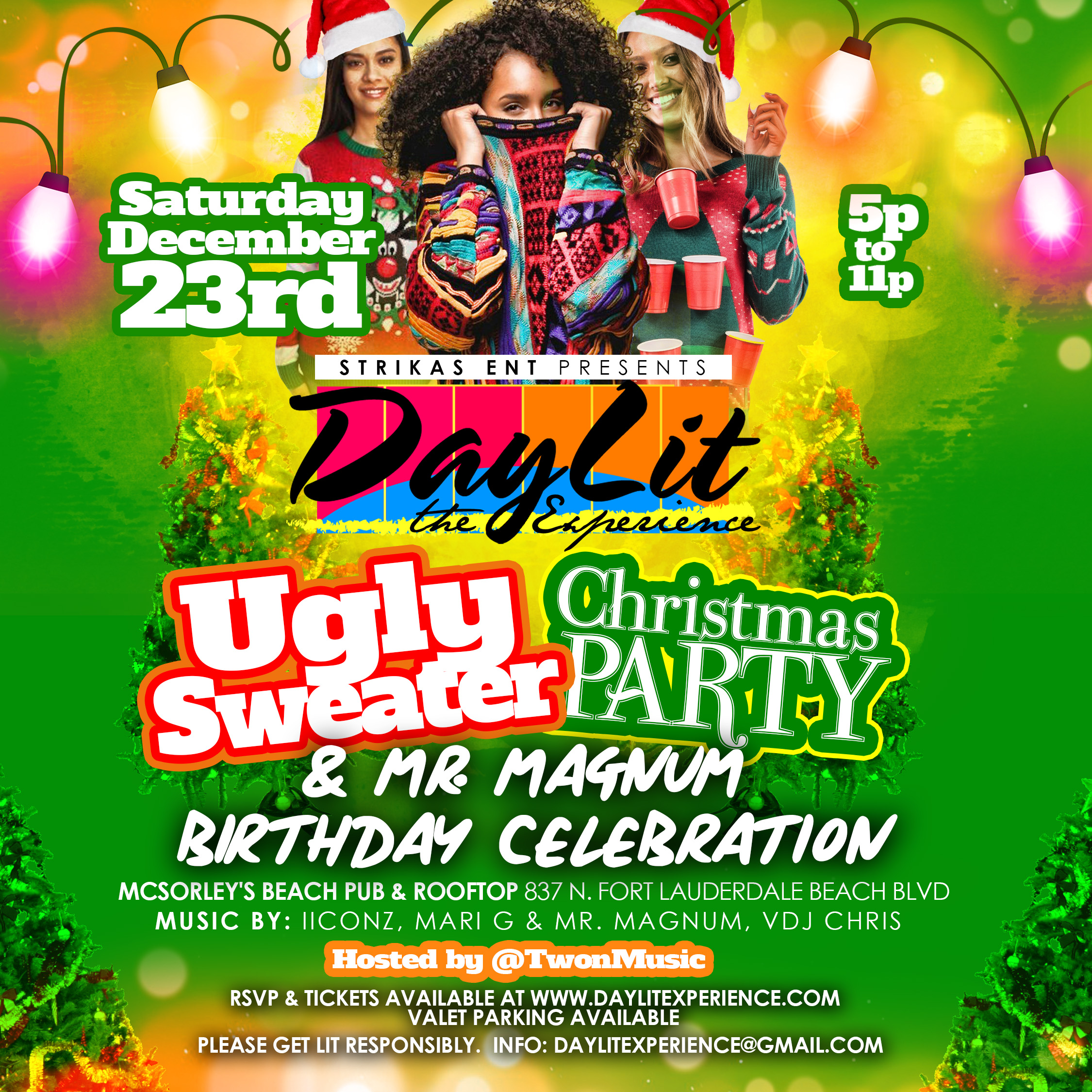 DayLit - A Lit-Mas Experience: Ugly Sweater Party and Birthday Celebration for Mr. Magnum