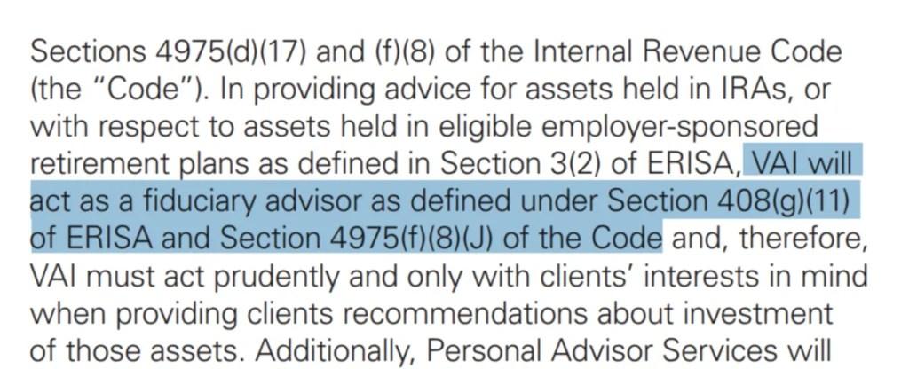 Are Vanguard Financial Advisors Fiduciaries?