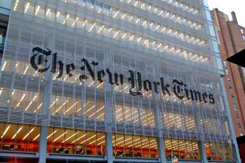 The New York Times corporate headquarters