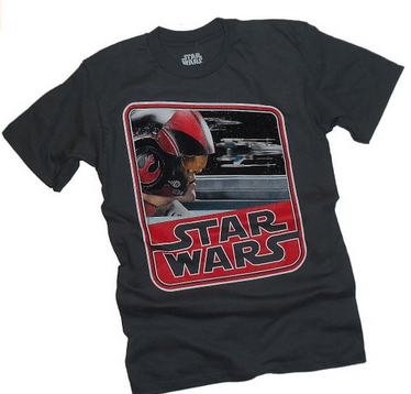 Star Wars Ep VII: The Force Awakens -- Poe Dameron -- X-Wing Adult T-Shirt, Oscar Isaac, Mr. Media Interviews