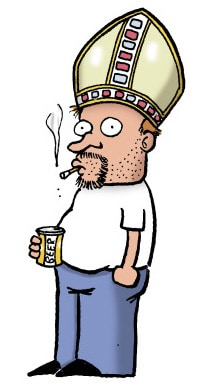 Stephan Pastis as Pope (by Stephan Pastis)