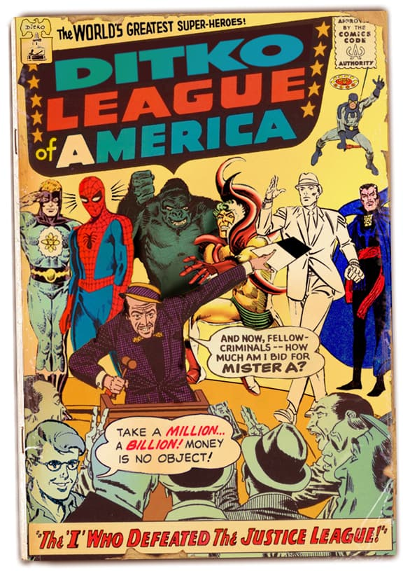 Ditko League of America, Dial B for Blog, Steve Ditko tribute, Mr. Media Interviews