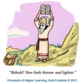 Moses cartoon by Bob Eckstein, Mr. Media Interviews
