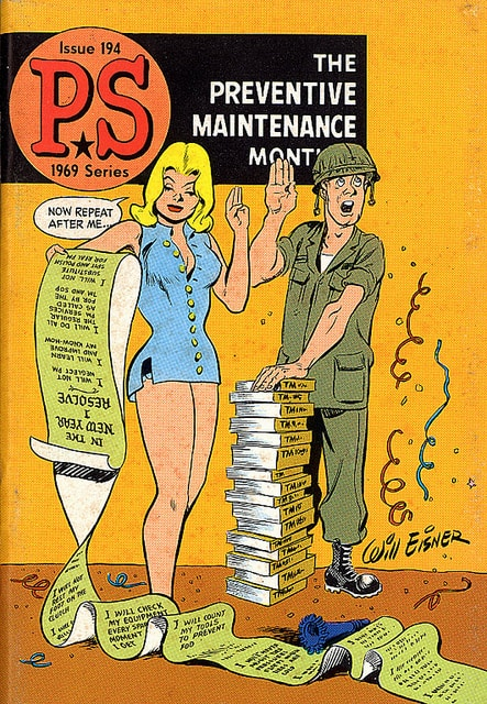 PS Magazine, United State Army, Will Eisner, educational comics, Mr. Media Interviews